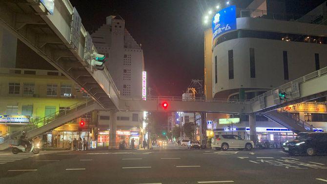 松山エリアへと通じる交差点
