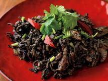 乾物でエスニックな一皿「切り干し大根の黒胡麻クミン炒め」のレシピ
