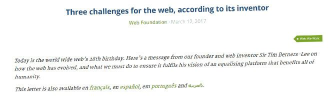「Webを作った男」が懸念する3つの問題